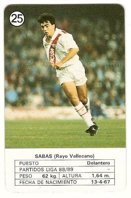 Cromo Juan Sabas. Fuente: anotandofutbol.blogspot.com