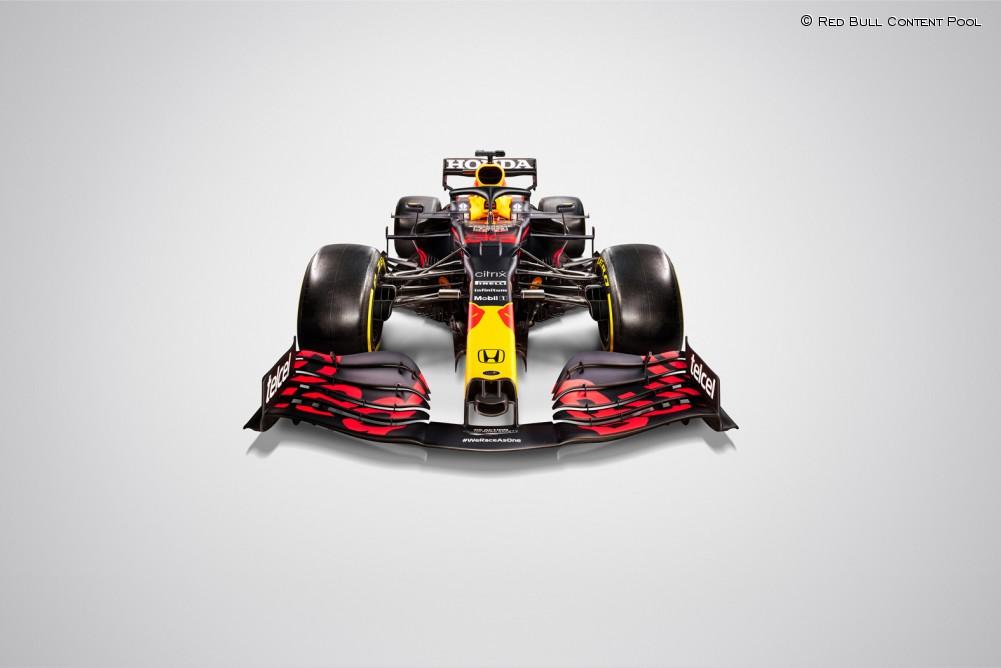 El Red Bull visto desde el frontal. Fuente: Red Bull Content Pool