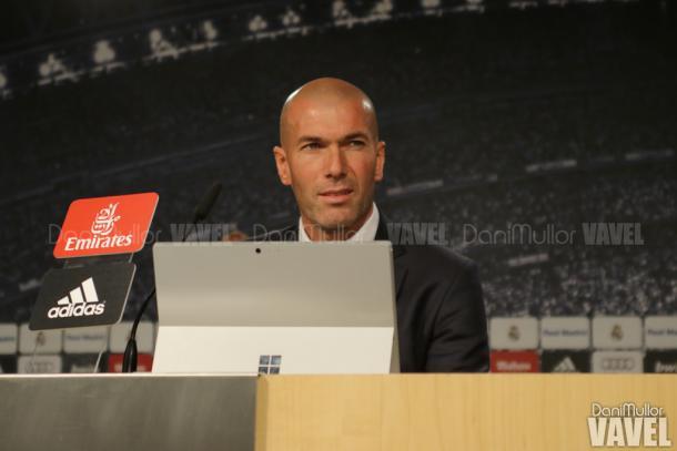 Zidane en rueda de prensa   Foto: VAVEL
