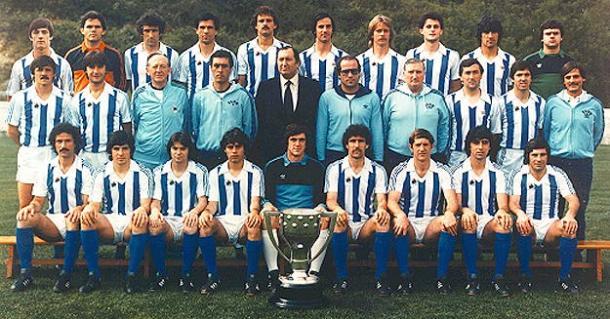 Equipo de la Real en la 82/83. Fuente: Real Sociedad