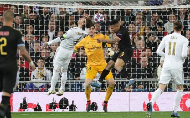 Gol de Gabriel Jesus en la ida. Foto: EFE