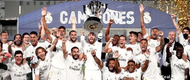 El campeonato de Liga 19-20, último éxito del club blanco. Fuente:Real Madrid