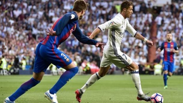 Ronaldo in azione nel Clasico