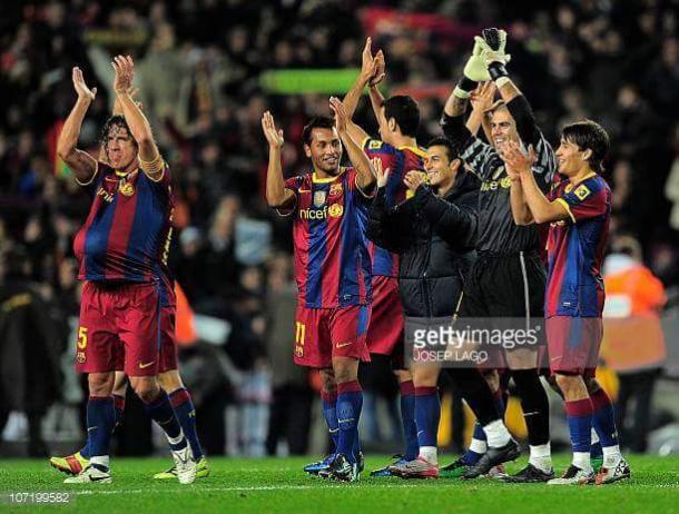 Jeffrén, durante uno de sus momentos con el Barcelona | Foto: Josep Lago - Getty Images