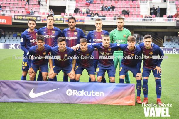 Once inicial del FC Barcelona B   |   FOTO: Noelia Déniz