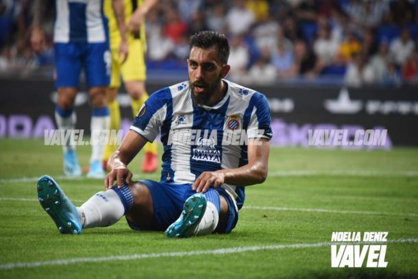 Borja Iglesias ante el Stjarnan | Foto: Noelia Déniz (VAVEL)
