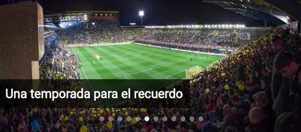 Estadio de La Cerámica, repleto de aficionados, en uno de los partidos de Europa League. Fuente: villarrealcf.es