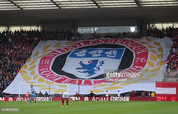 The Red Faction raised over £3,000 for this display celebrating 140 years of Boro | Photo: GettyImages/Chris Brunskill