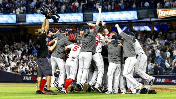 The Red Sox closed out their hated rivals in the Bronx/Photo: Getty Images