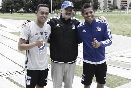 Ayron del Valle y Harrison Henao Foto: Millonarios.com.co