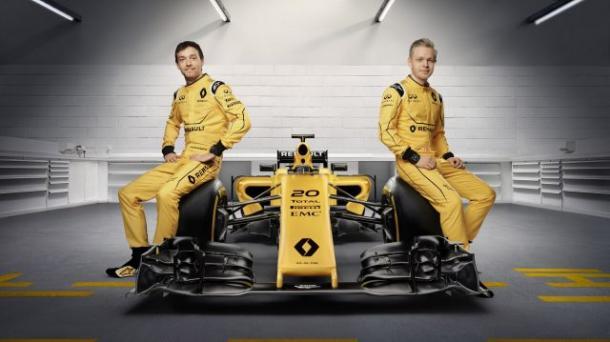 Palmer e Magnussen (Foto: Reprodução/Renault)