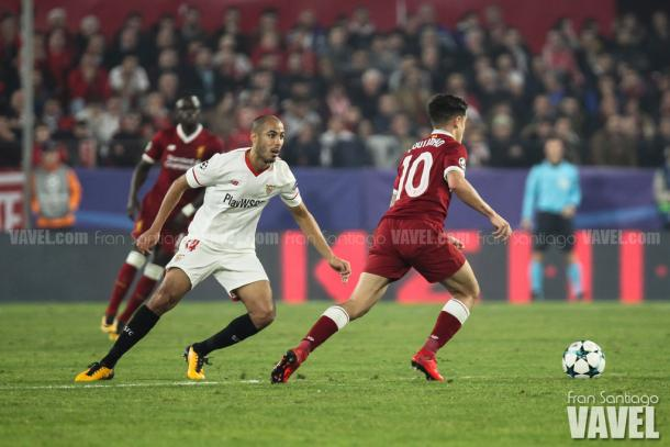Pizarro marcando Coutinho