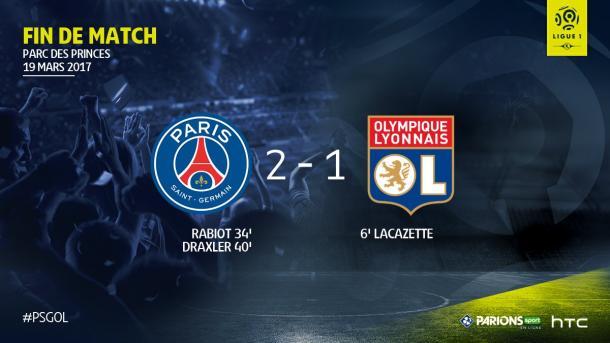 Los goles de Adrien Rabiot y Julian Draxler dieron la vuelta a un encuentro que se le había puesto muy complicado al PSG. | FOTO: @Ligue1