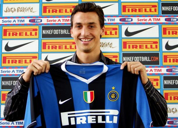 Ibrahimovic el día de su presentación con el Inter | Foto: Inter