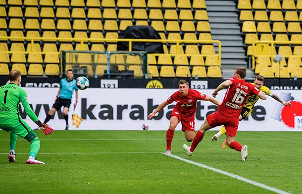 El remate de Marco Reus / foto: @BVB