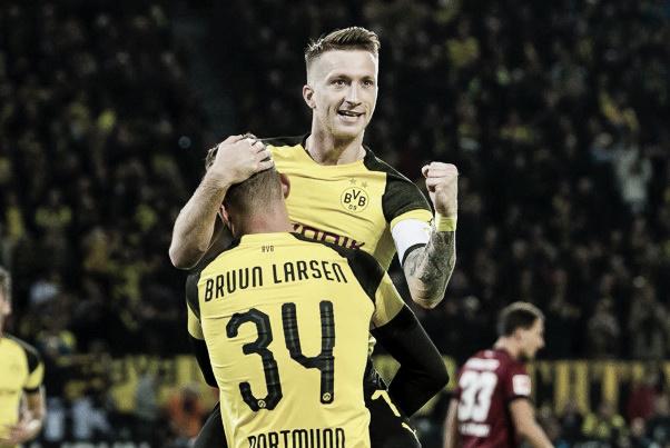El delantero anotó dos ante Núremberg   Foto: @BVB