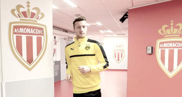 Reus en el túnel de vestuarios del Stade Louis II | bvb oficial