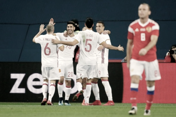España 3-3 Rusia, amistoso de noviembre | Foto: Reuters