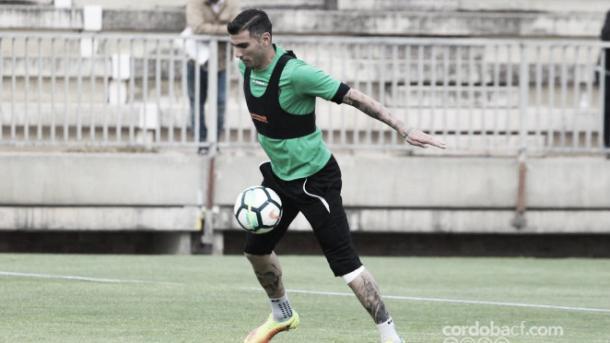 Reyes entrenando con el Córdoba CF. (FOTO: Córdoba CF)