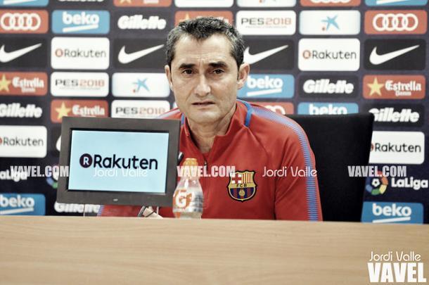 Valverde, en rueda de prensa | Jordi Valle - VAVEL