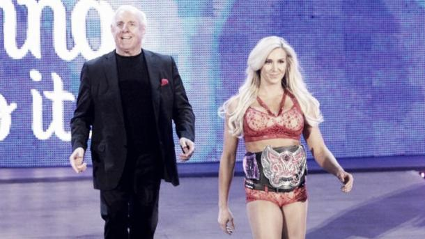 Flair has been by his daughters side since she won the belt. Photo- SkySports.com