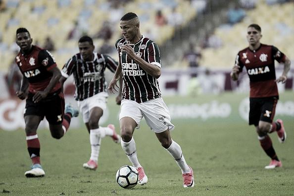 Richarlison marcou 19 gols em 67 partidas durante sua passagem pelo Fluminense (Foto: Alexandre Loureiro/Getty Images)