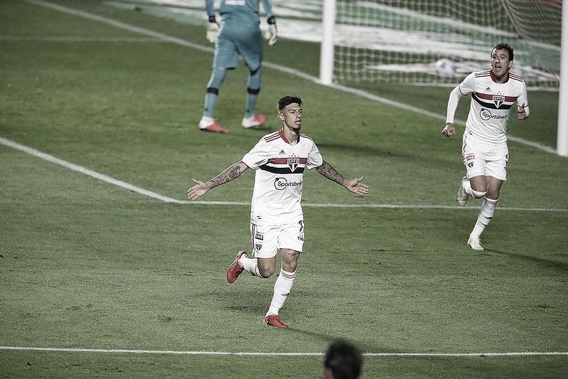 Rigoni e Pablo deram a vantagem para Tricolor no confronto (Foto: Rubens Chiri/ saopaulofc.net)