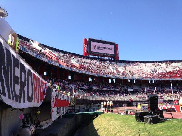El Monumental espera estar colmado de almas millonarias | Foto: Twitter Oficial River Plate