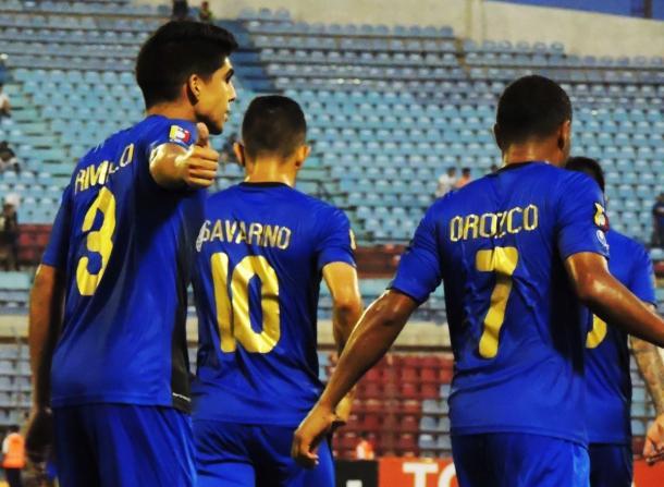 Daniel Rivillo festejando su gol // FOTO: ZULIA FC