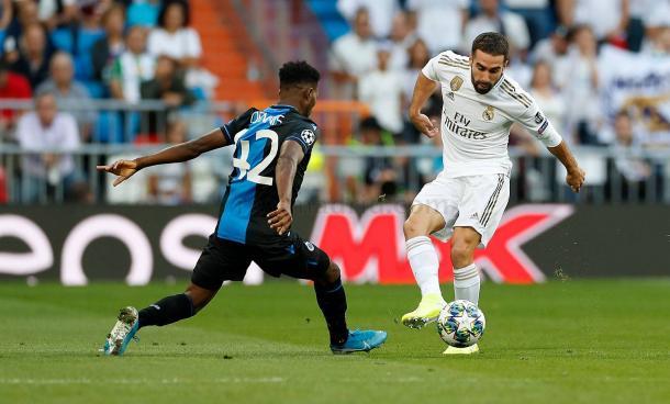 Carvajal, goleador en Mendizorroza, vs Brujas / Fuente: realmadrid.com