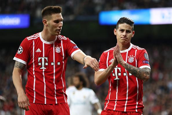 James não comemora o gol de empate marcado contra seu ex-clube (Lars Baron/Bongarts/Gettyimages)