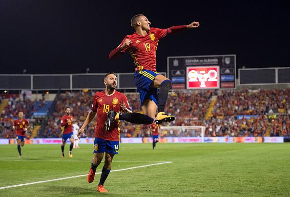 Rodrigo comemorando seu gol | Foto: Denis Doyle/Getty Images