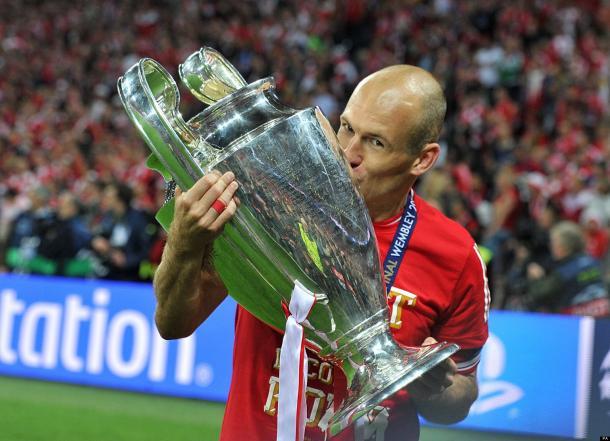 Robben con la Champions League, www.huffingtonpost.co.uk