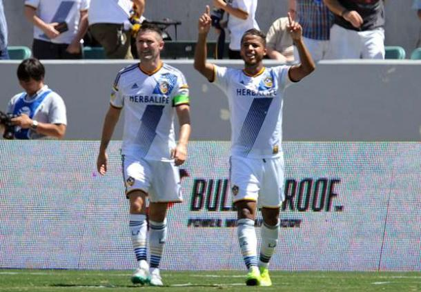 Robbie Keane (Left) and Giovani Dos Santos (Right) will need to lead the Galaxy's attack on Sunday. Photo provided by Gary A. Vasquez.