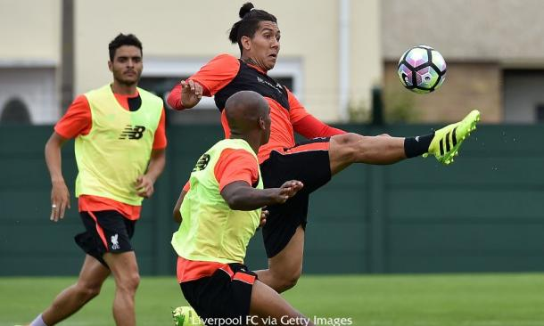 Roberto Firmino, sporting a new hairstyle, is likely to get some minutes against Tranmere (photo; Getty Images)