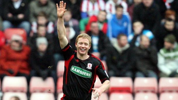 Robson celebrates his famous goal against Sunderland | Photo: Scott Heppell/Associated Press