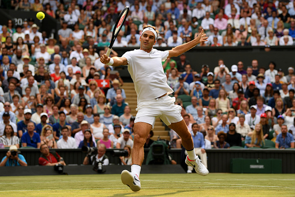 The seven-time champion is in fine form on his favourite court (Photo by Shaun Botterill / Getty)