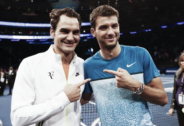 Federer y Dimitrov comparten una gran amistad. Foto. ATP
