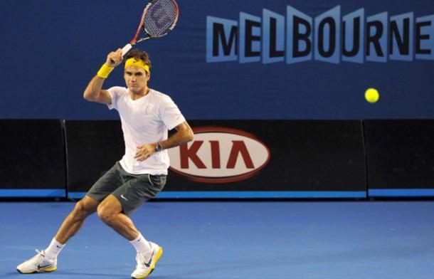 Federer en Abierto de Australia. Foto: australianopen.com