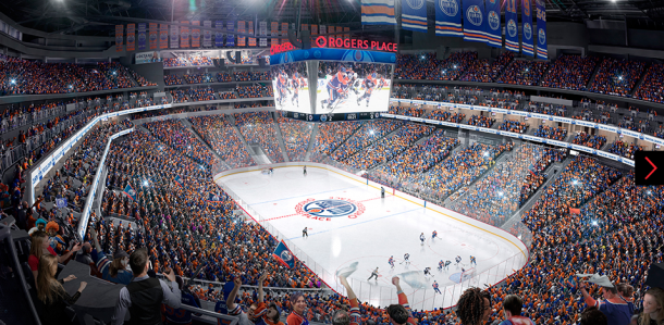 Rogers Place. Foto: https://www.canadianarchitect.com