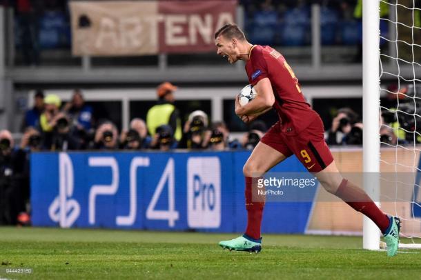 Dzeko alentó las esperanzas romanistas con el 1-0 / Foto: gettyimages
