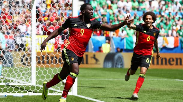Lukaku netted his second, and Belgium's third of the afternoon (Photo: Getty Images)