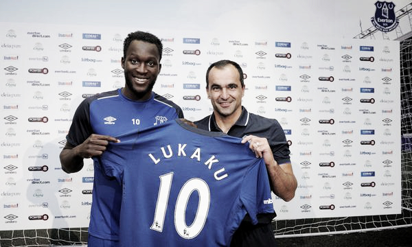 Romelu Lukaku joined Everton in July 2014 for a club record fee of £28million. | Image: Everton