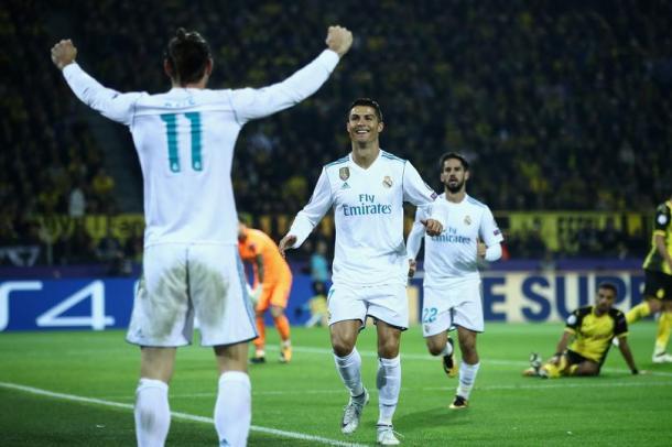 Cristiano Ronaldo dopo la prima rete al Borussia Dortmund | www.twitter.com