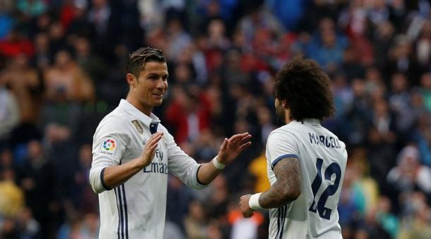 Cristiano Ronaldo e Marcelo, decisivi nell'ultimo turno di campionato col Valencia. Fonte foto: the indian express
