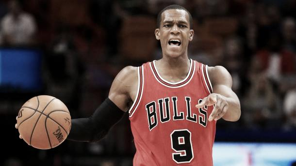 Rajon Rondo has not been playing for the Chicago Bulls and could be headed for the trade market. Photo Credit: Rob Foldy/Getty Images