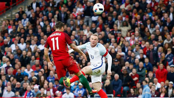 Rooney in action for england against Portugal at Wembley | Photo: Getty