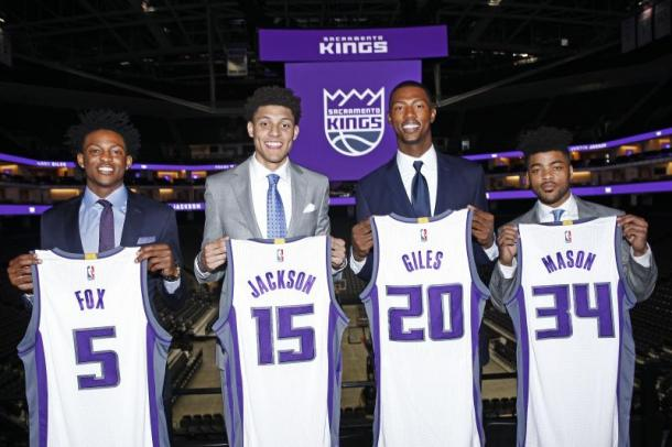I Rookies dei Sacramento Kings. Fonte Immagine: Bleacher Report