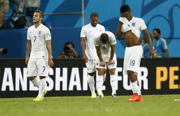 England failed to advance past the Group Stage at the World Cup in 2014. Source: Squawka