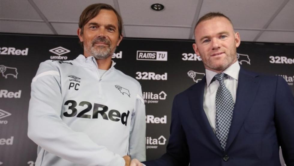 Wayne Rooney se convirtió en el ayudante de Phillip Cocu. Ahora será su reemplazante. Foto: Derby County